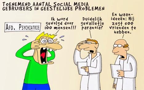 Drukte social media