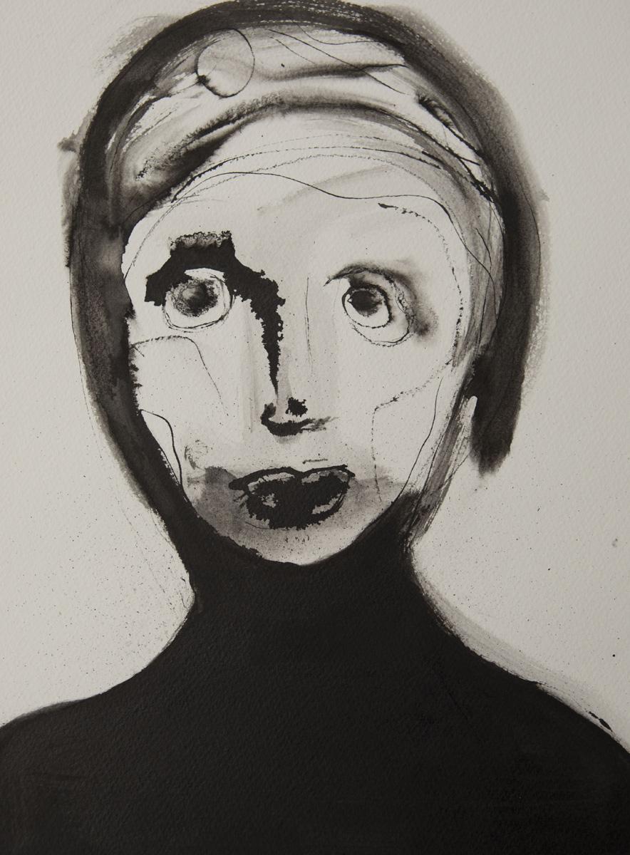 Inktportret kunst voor in huis