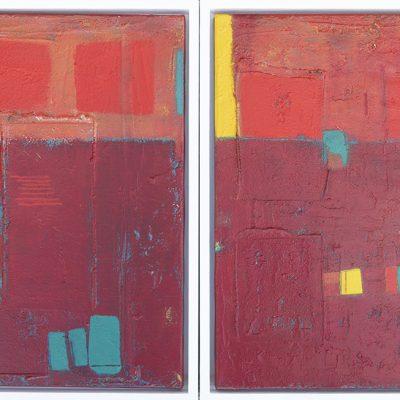 Schilderijen abstract van textuur en verf