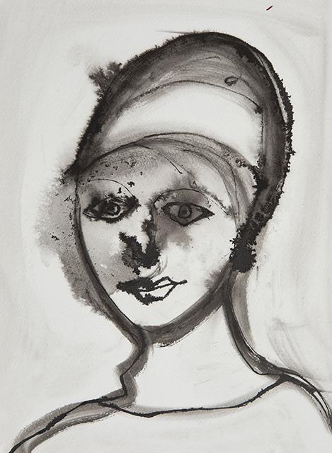 Inktportret kunst in huis