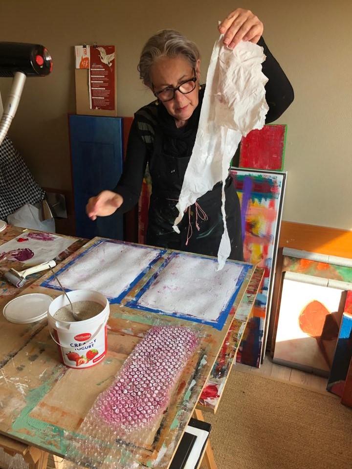 Autodidact of les in schilderen